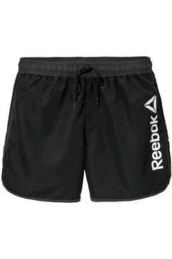 reebok zwemshort met logo-opschrift opzij zwart