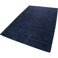 vloerkleed, »maya kelim«, esprit, rechthoekig, hoogte 6 mm, met de hand geweven blauw