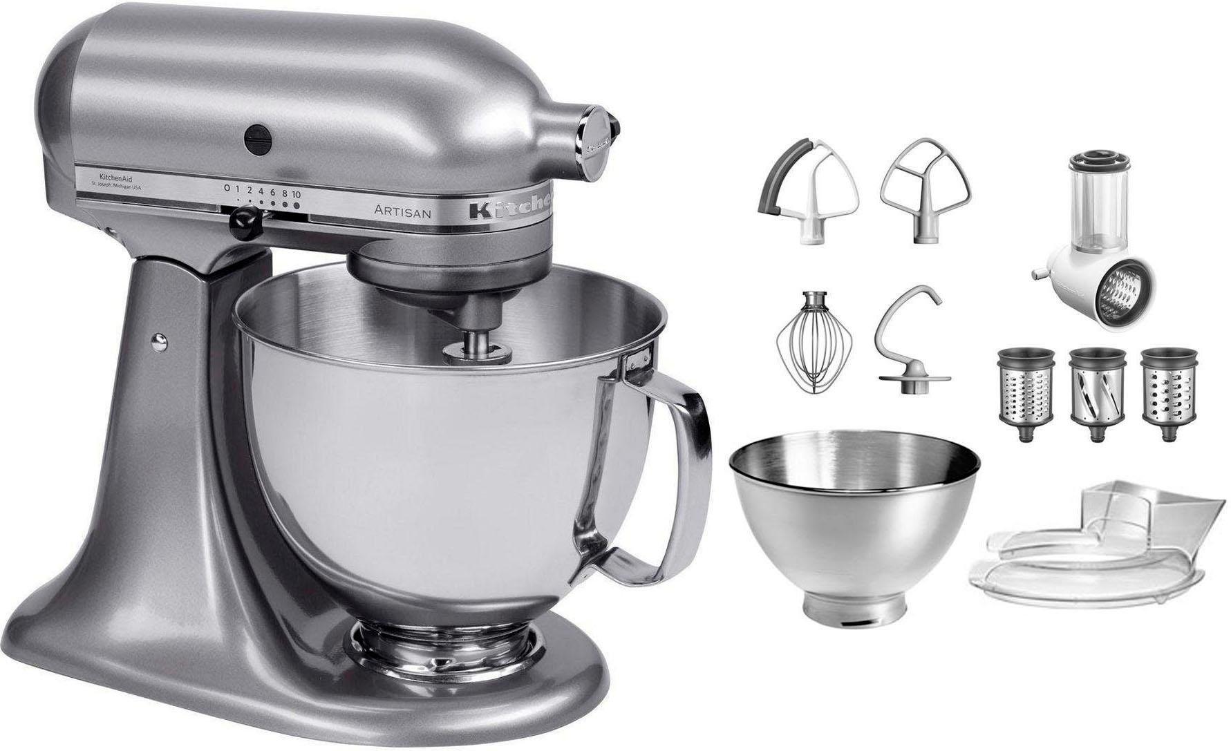 KitchenAid keukenmachine Artisan 5KSM175PSECU met gratis groentesnijder en 3 trommels, 300 W nu online kopen bij OTTO