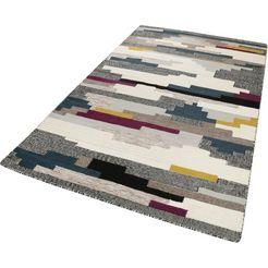 wollen kleed, »natham kelim«, esprit, rechthoekig, hoogte 8 mm, met de hand geweven multicolor
