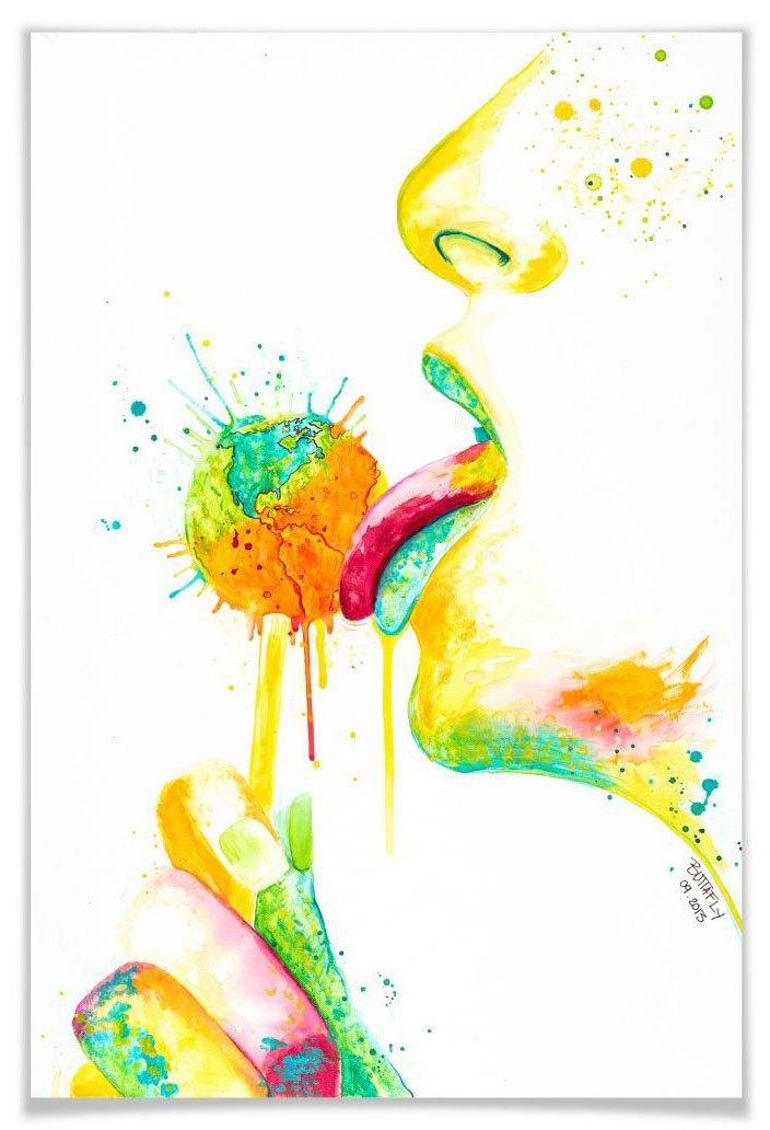 Wall-Art poster Lollipop Poster, artprint, wandposter (1 stuk) goedkoop op otto.nl kopen