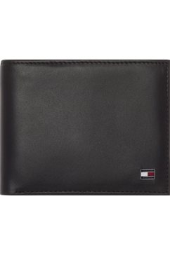tommy hilfiger portemonnee »eton mini cc wallet« zwart