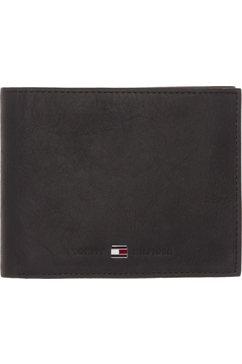 tommy hilfiger portemonnee »johnson trifold« zwart