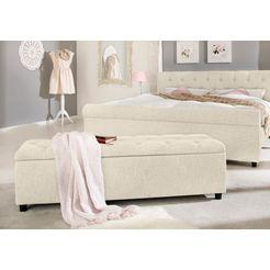 home affaire bank goronna in 5 verschillende kleuren, zithoogte 41,5 cm, ook geschikt als garderobebank of bedbank beige