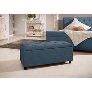 home affaire bank goronna in 5 kleuren, zithoogte 41,5 cm, ook geschikt als garderobebank of bedbank blauw