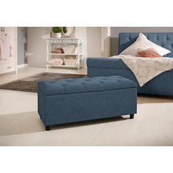 home affaire bankje »goronna« in 5 verschillende kleuren en 2 afmetingen, zithoogte 41,5 cm blauw