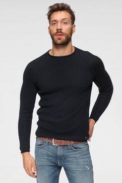 tom tailor denim trui met ronde hals blauw