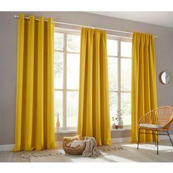 my home verduisteringsgordijn sola breedte 130 cm en 270 cm (1 stuk) geel