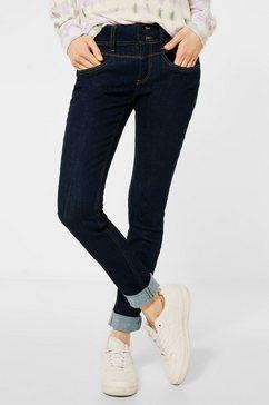 street one slim fit jeans 4-pocketsstijl blauw
