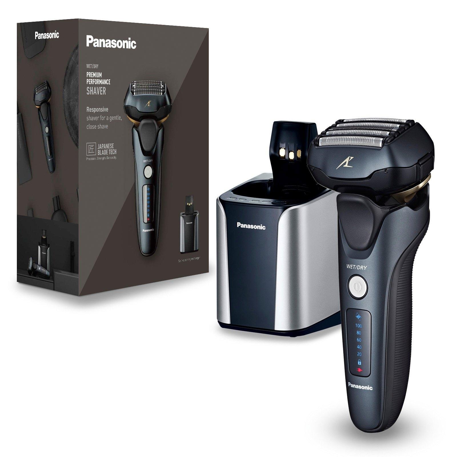 Panasonic elektrisch scheerapparaat ES-LV97-K803 Nat-droog-scheerapparaat, vijfvoudige scheerkop met lineaire motor, inclusief reinigings-& oplaadstation bestellen: 30 dagen bedenktijd