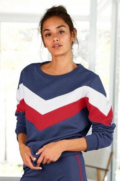 h.i.s sweatshirt blauw
