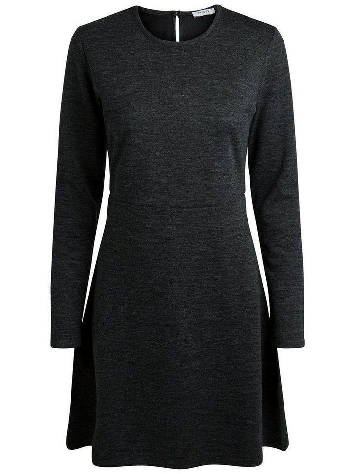 Pieces Lange mouw jurk grijs