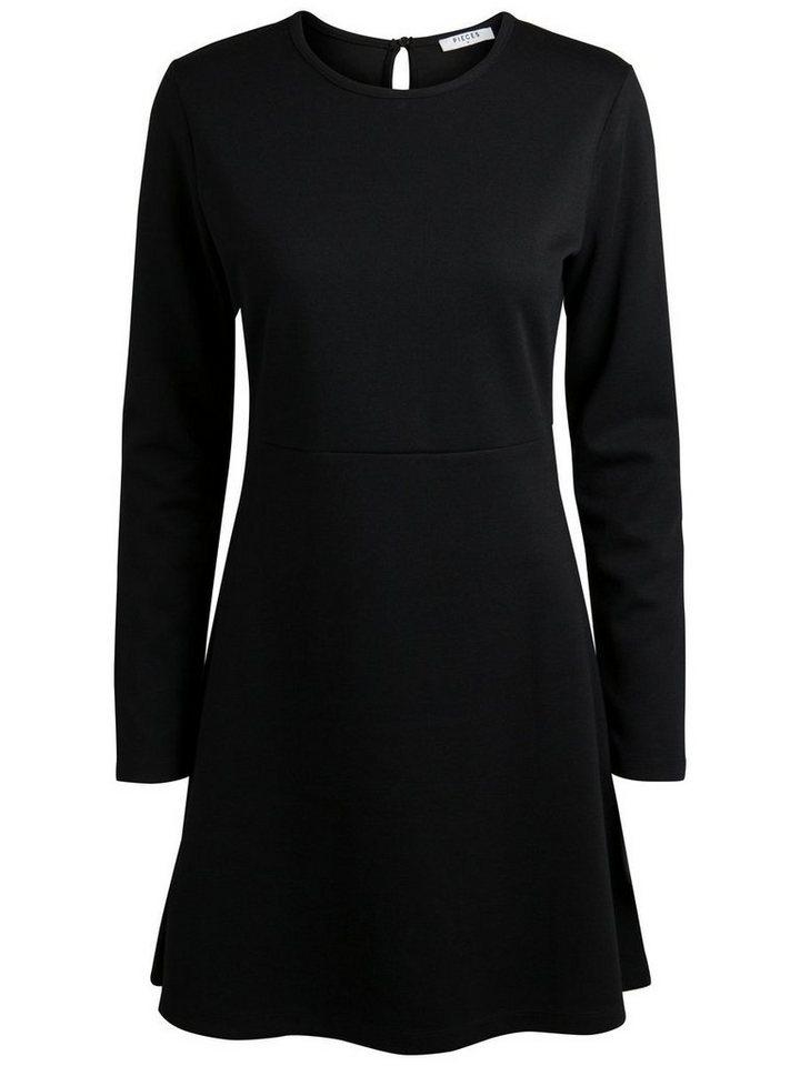 Pieces Lange mouw jurk zwart
