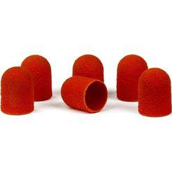 bausch eeltverwijderaar slijpkappen voor rubberhouders in bruin of oranje (set, 12 stuks) bruin
