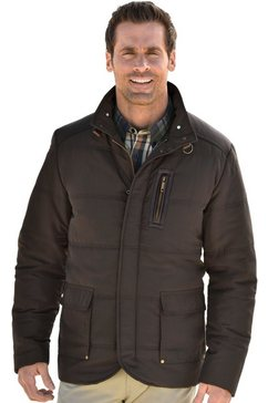 marco donati lange jas met patch van imitatieleer op de mouw bruin