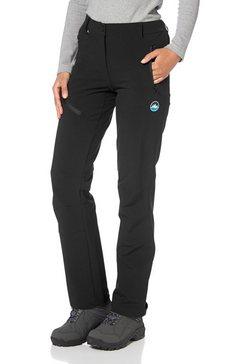 polarino functionele broek met ritszakken zwart