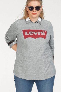 levi's plus sweatshirt relaxed graphic crew met batwing-print grijs