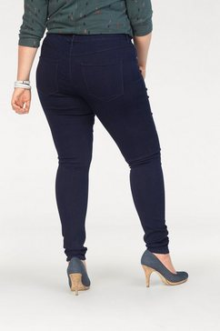 only carmakoma jeansjeggings blauw