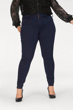 only carmakoma skinny jeans blauw