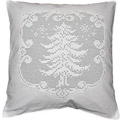 hossner kussenovertrek kerstboom (1 stuk) wit