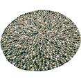 wollen kleed, »maja«, home affaire collection, rond, hoogte 22 mm, met de hand geweven bruin