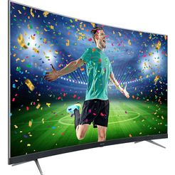 thomson 55ud6696 curved-led-tv (55 inch), 4k ultra hd, smart-tv zilver
