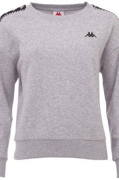 kappa sweatshirt ilary in casual comfort fit grijs