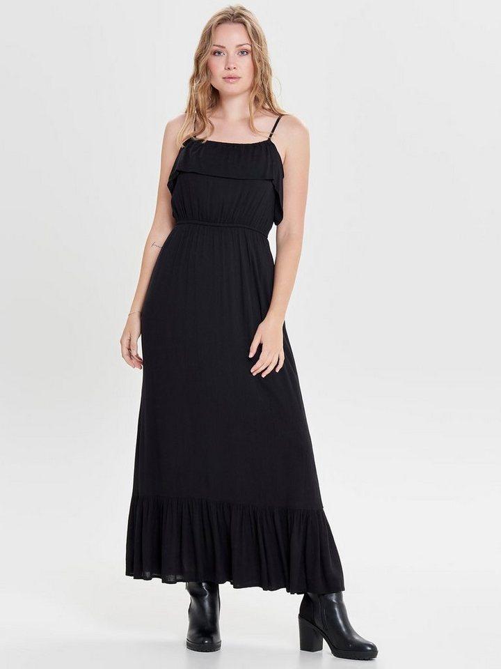 ONLY Ruche jurk zwart