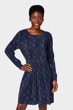 tom tailor denim jurk »jurk met gebloemde print« blauw