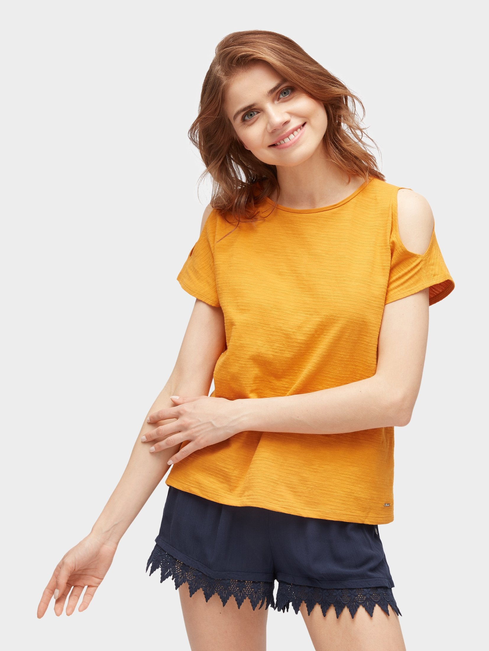 TOM TAILOR Denim T-shirt »Cold-shoulder T-shirt« nu online kopen bij OTTO