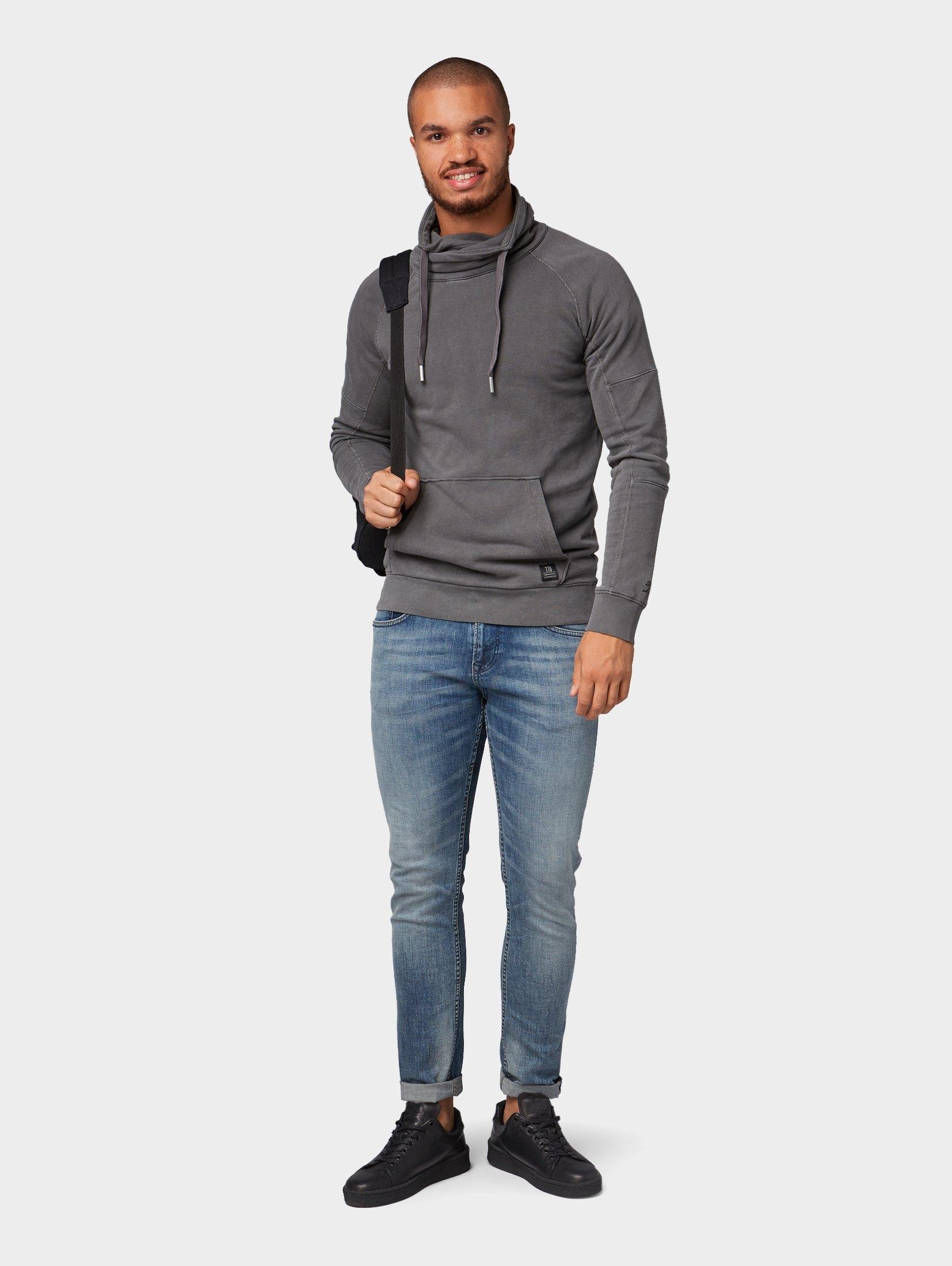 Tom Tailor Sweatshirtsweatshirt Met Denim Online Shoppen Sjaalkraag 4LqA3Rj5