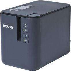 brother labelprinter »p-touch p900w pc usb profi beschriftungsgeraet« zwart