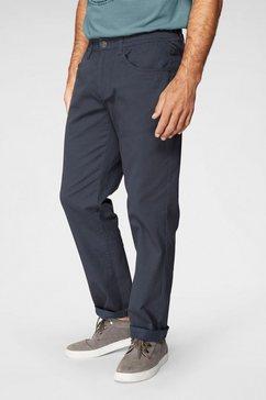 man's world broek met elastische band stretchbroek met een elastische band blauw