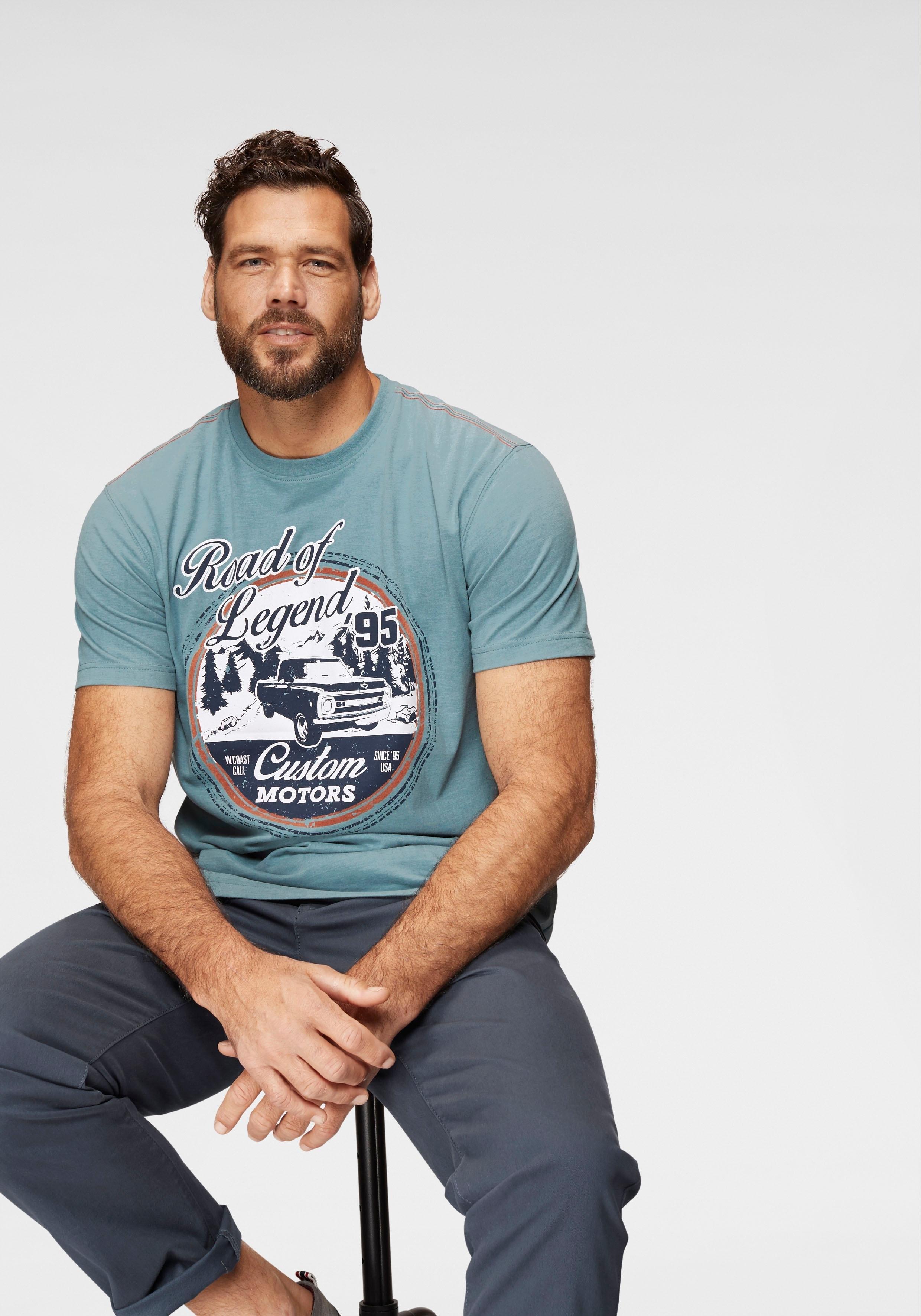 Man's World T-shirt met motiefprint nu online kopen bij OTTO