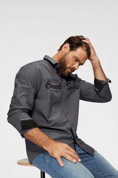 man's world overhemd met lange mouwen grijs