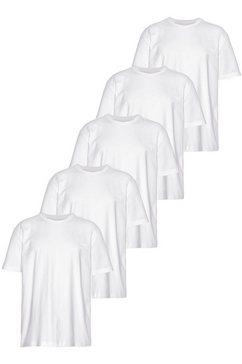man's world t-shirt (set, 5-delig, set van 5) wit
