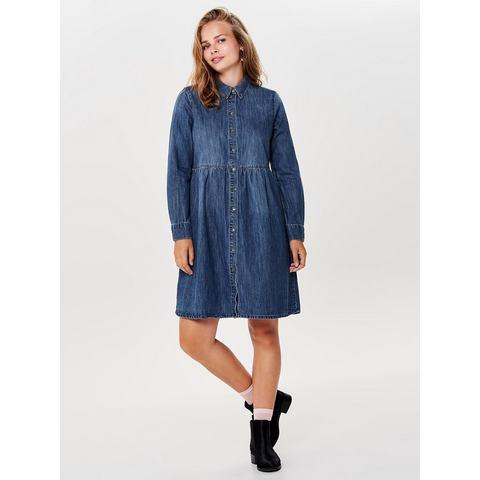 ONLY Lange mouwen Denim jurk blauw