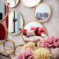leonique sierspiegel malisa wanddecoratie, bestaand uit 19 ronde spiegelementen goud