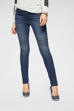 arizona skinny fit jeans »in biker-look« blauw
