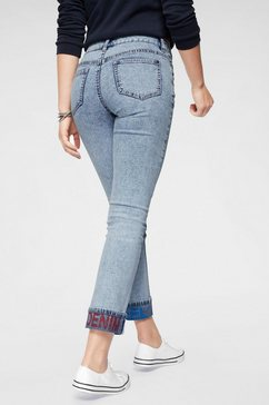 arizona straight jeans »turn up met print« blauw
