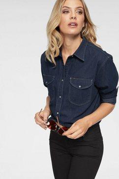 lee jeansblouse blauw