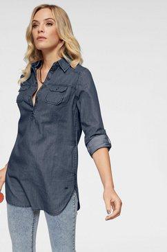 arizona jeansblouse »oprolbare mouwen met trensje« blauw