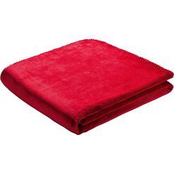biederlack deken »simply good« rood