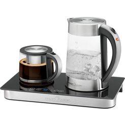 profi cook waterkoker theezetapparaat, cafetière pc-tks 1056, 1,7 l zilver