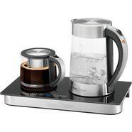 profi cook waterkoker, theezetapparaat, cafetière pc-tks 1056, 1,7 liter, 2250 w zilver