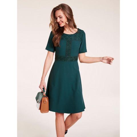 jurk met ronde hals groen