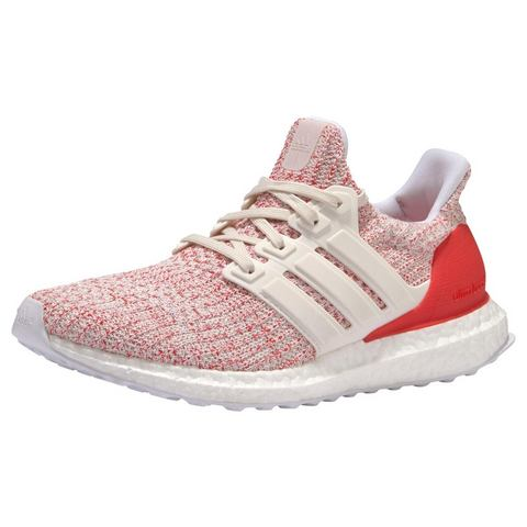 adidas Women's Ultra Boost Running Shoes Chalk White-Red US 8.5-UK 7 White-Red