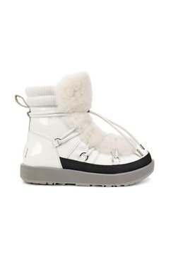 ugg hoge veterschoenen »highland waterproof« wit