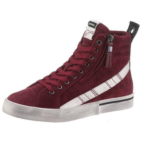 Dames Diesel sneakers D-Velows Mid Lace Diesel rood Schoenen