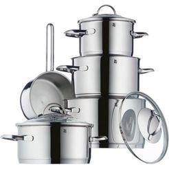wmf pannenset »provence plus« (9-delig) zilver